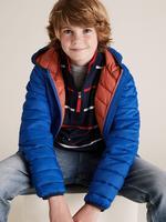 Erkek Çocuk Mavi Kapüşonlu Mont (Stormwear™ Teknolojisi ile)