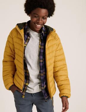 Erkek Çocuk Sarı Kapüşonlu Mont (Stormwear™ Teknolojisi ile)