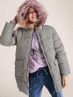 Kız Çocuk Yeşil Kapüşonlu Uzun Mont (Stormwear™ Teknolojisi ile)