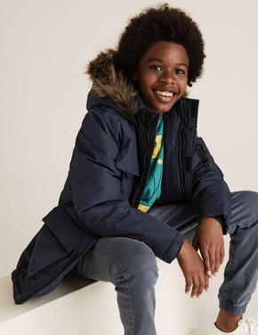 Erkek Çocuk Lacivert Kapüşonlu Parka (Stormwear™ Teknolojisi ile)