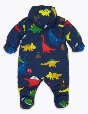 Bebek Lacivert Dinozor Desenli Tulum Mont