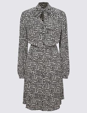 Kadın Siyah Fit&Flare Mini Elbise