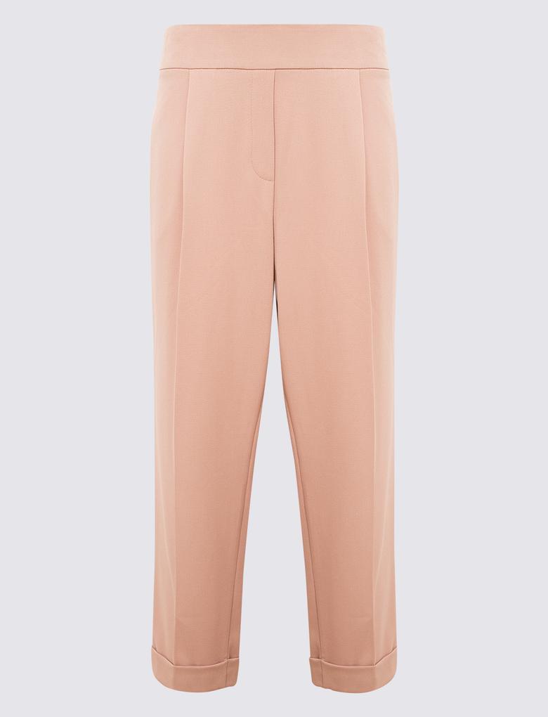Kadın Pembe Tapered Leg Pantolon