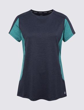 Kadın Lacivert Performance Kısa Kollu T-Shirt