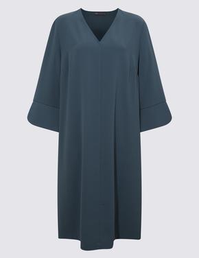 Kadın Mavi Shift Elbise