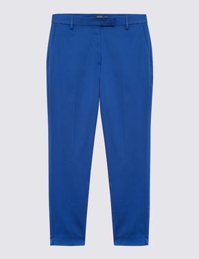 Kadın Mavi Pamuklu 7/8 Pantolon