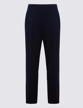 Kadın Lacivert Jarse Tapered Pantolon