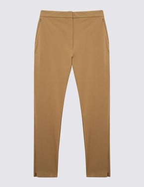 Kadın Kahverengi Skinny Leg Streç Pantolon