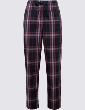 Erkek Mor Saf Pamuklu Pijama Takımı
