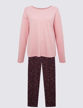 Kadın Bordo Uzun Kollu Pijama Takımı