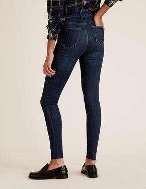 Kadın Lacivert Yüksek Bel Skinny Jean Pantolon