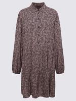 Kadın Lacivert Desenli Relaxed Mini Elbise