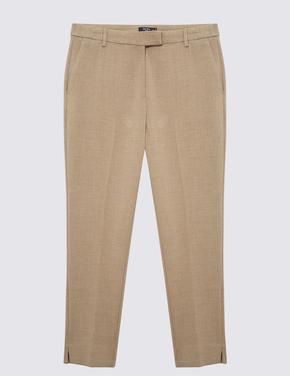 Kadın Kahverengi Slim Pantolon