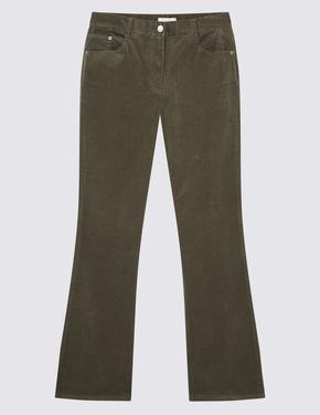 Yeşil Kadife Slim Fit Pantolon