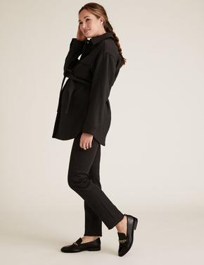 Kadın Siyah Hamile Straight Leg Jean Pantolon