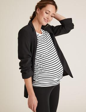 Kadın Siyah 2'li Pamuklu Hamile T-Shirt'ü