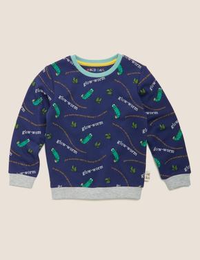 Erkek Çocuk Lacivert Roald Dahl™ & NHM™  Desenli Sweatshirt