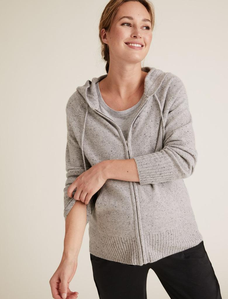 Kadın Lacivert 2'li Pamuklu Hamile T-Shirt'ü