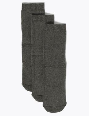 Çocuk Gri 3'lü Termal Çorap Seti