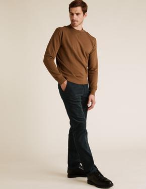 Yeşil Regular Fit Kadife Pantolon