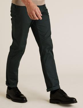 Erkek Yeşil Blue Harbour Premium Regular Fit Chino