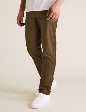 Kahverengi Blue Harbour Premium Regular Fit Chino