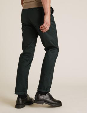 Yeşil Blue Harbour Premium Regular Fit Chino