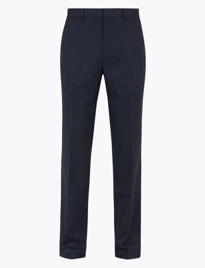 Lacivert Regular Fit Streç Pantolon