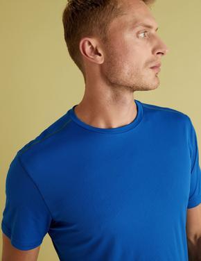 Erkek Mavi Active Kısa Kollu T-Shirt