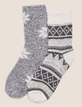 Kadın Gri 2'li Ankle Çorap Seti