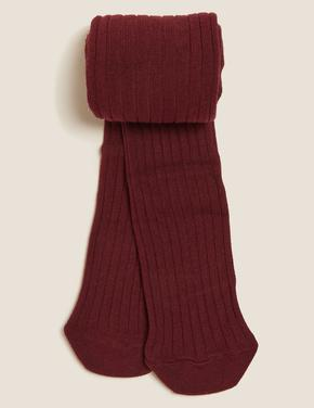 Çocuk Mor Fitilli Külotlu Çorap