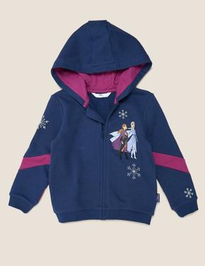 Kız Çocuk Lacivert Disney Frozen™ Kapüşonlu Sweatshirt