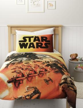 Ev Turuncu Star Wars™  Saf Pamuklu Nevresim Takımı