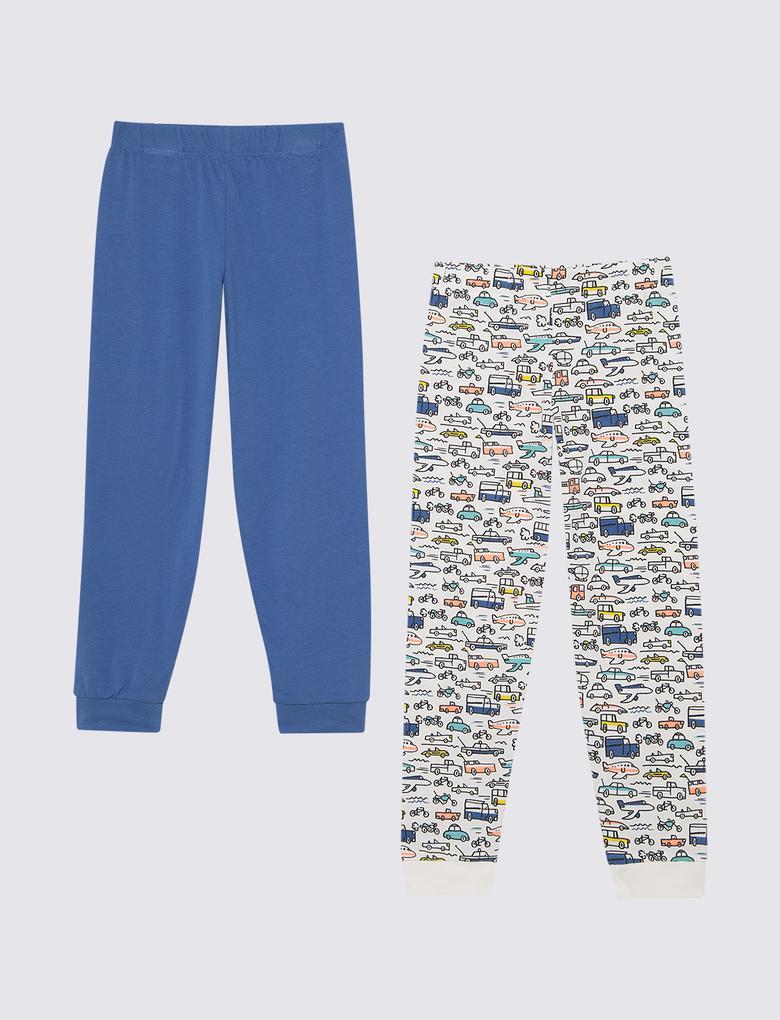 Çocuk Beyaz 2'li Pijama Takımı Seti