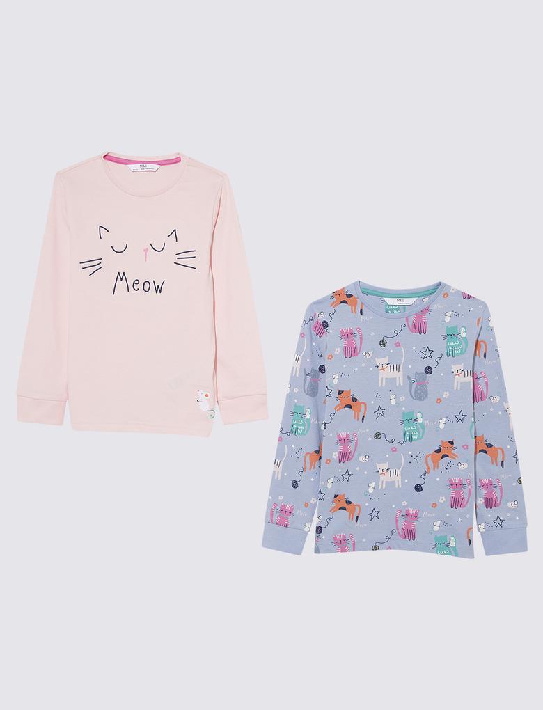 Çocuk Pembe 2'li Pijama Takımı Seti
