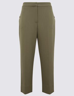 Kadın Kahverengi 7/8 Evie Straight Pantolon