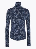 Lacivert Modal Karışımlı Dik Yakalı Bluz