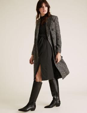 Kadın Siyah Kemer Detaylı Shift Elbise