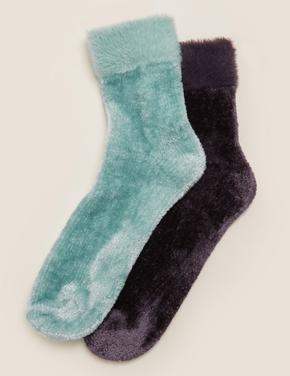 Kadın Gri 2'li Çorap Seti