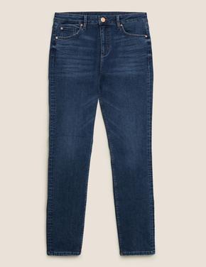Kadın Lacivert Slim Leg Jean Pantolon