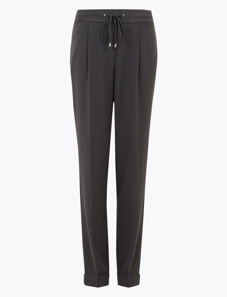 Kadın Gri Tapered Ankle Grazer Pantolon