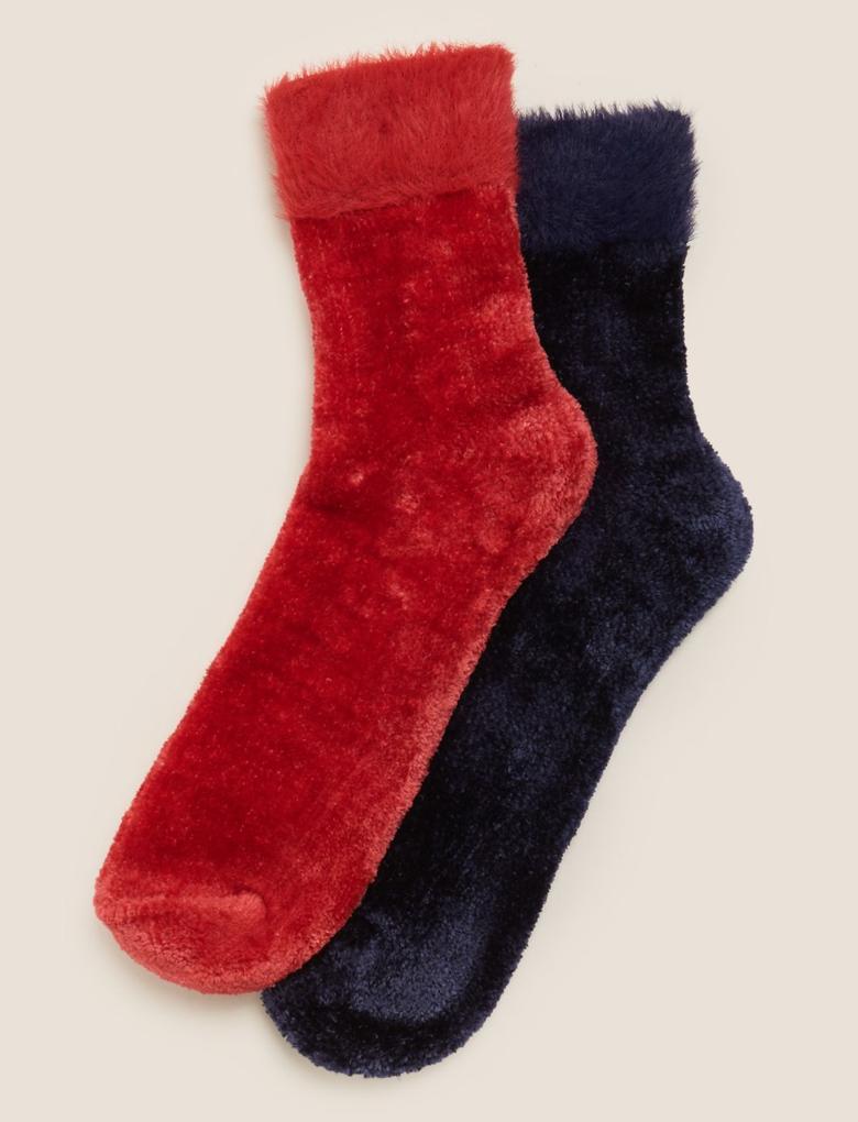 Kadın Lacivert 2'li Çorap Seti