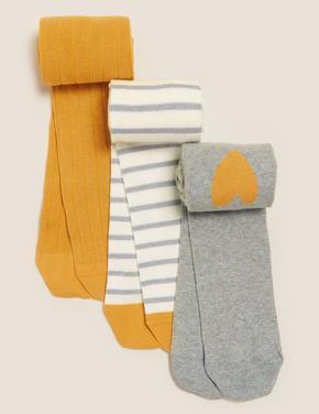 Çocuk Multi Renk 3'lü Külotlu Çorap Seti