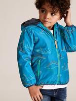 Erkek Çocuk Mavi Suni Kürk Astarlı Mont