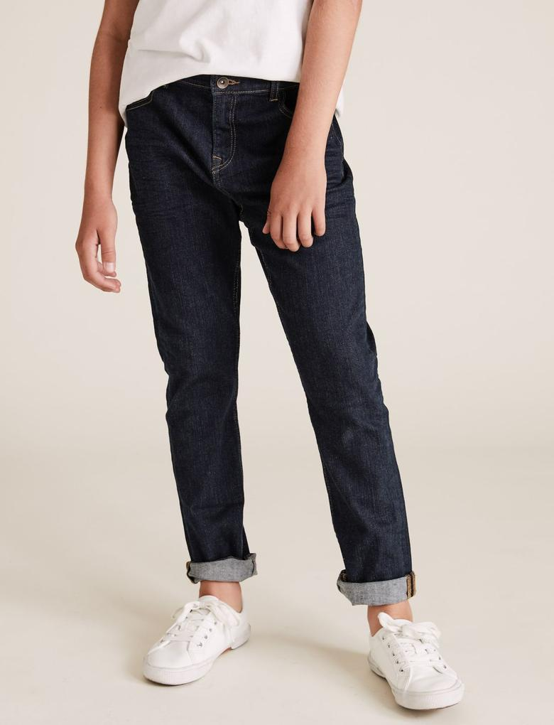 Erkek Çocuk Lacivert Regular Fit Jean Pantolon