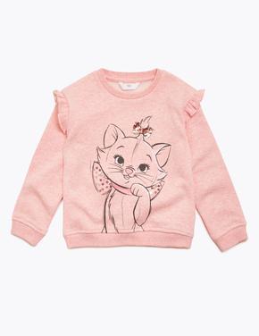 Kız Çocuk Pembe Disney Aristocats™ Marie Sweatshirt