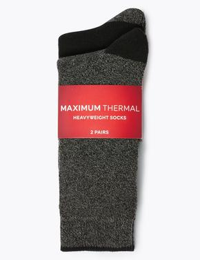 Erkek Gri 2'li Maksimum Termal Çorap Seti