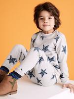 Erkek Çocuk Gri Yıldız Desenli Eşofman Altı