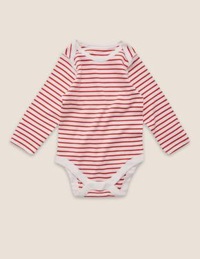 Bebek Beyaz 5'li Saf Pamuklu Desenli Body Seti