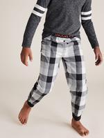 Çocuk Gri 2'li Ekose Desenli Pijama Takımı Seti